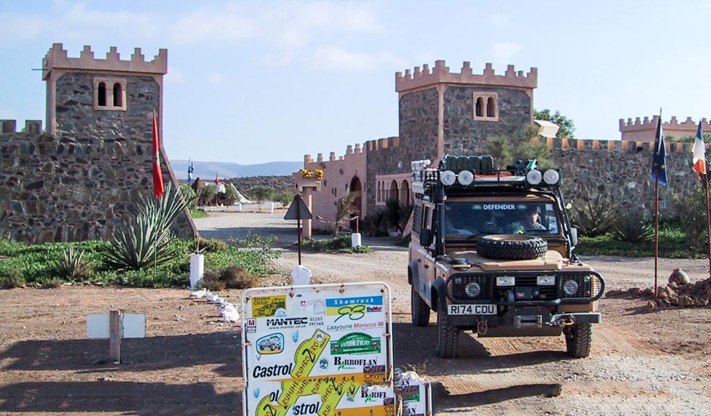 Land Rover at Fort Bou-Jerif