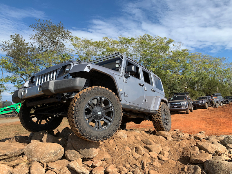 Jeep on Rocks at Overland Expo