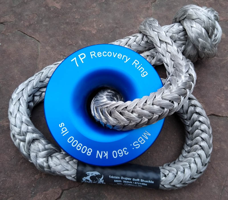 Recovery Ring 360kN and 388kN Soft Shackle set