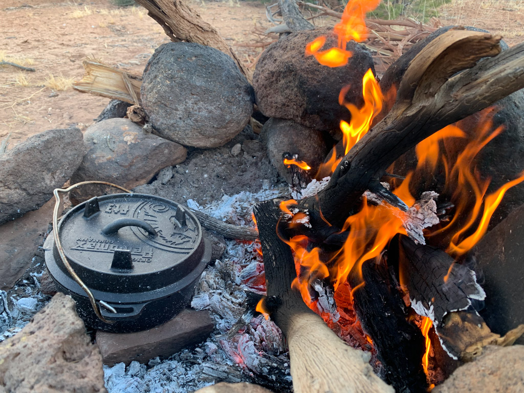 Potjie on the campfire